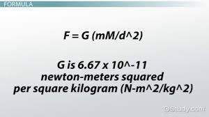 meters squared gravitational field definition u0026 formula video u0026 lesson