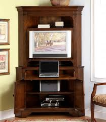 Tall Corner Tv Cabinet Tv Stands Armoire Tv Cabinet Forer With Pocket Doors Flat Screen