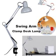 flexible swing adjustable swing arm desk lamp clamp on study