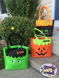 custom kids halloween bag personalized trick or treat bag