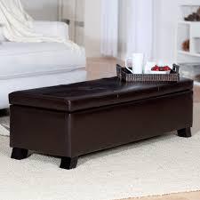crawford leather storage bench ottoman walmart com