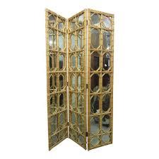 Screen Room Divider Excellent 1960s 3 Panel Rattan Mirror Floor Screen Room Divider