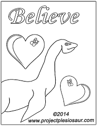 printable loch ness monster coloring page by daplesiosaur