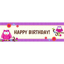 halloween flag banner preprinted happy birthday banners birthdayexpress com