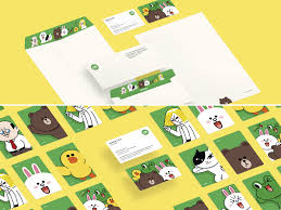 corporate design award line friends ci entry if world design guide