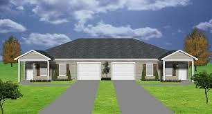 duplex plans with garage in middle 2 bedroom duplex plan garage per unit j0222 13d 2