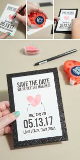 create your own save the date make your own thumbprint heart save the dates