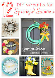 Diy Spring Projects by 12 Diy Wreaths For Spring U0026 Summer Two Purple Couches