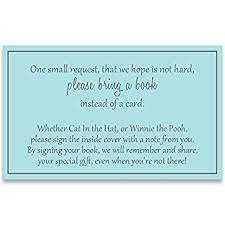 baby shower book instead of card poem gender neutral baby shower bring a book inserts boys