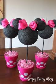 Diy 1st Birthday Centerpiece Ideas Minnie Mouse Centerpiece Decorations Simply Being Abby Recipes