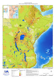 Africa Population Map east africa rift valley history of seismic events in relation to