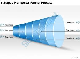 2013 business ppt diagram 6 staged horizontal funnel process