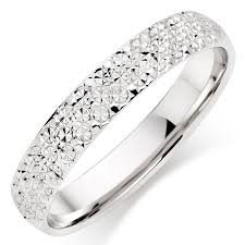 18ct white gold wedding ring 18ct white gold sparkle cut wedding ring 0010648