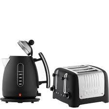 Black Kettle Toaster Set Dualit Jug Kettle And 4 Slot Toaster Bundle Basalt Homeware