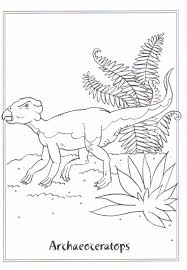 coloring page dinosaurs 2 archaeoceratops on kids n fun co uk on
