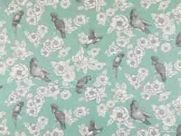 Mint Green Upholstery Fabric Mint Green Bird Upholstery Fabric Dark Grey Bird Curtains