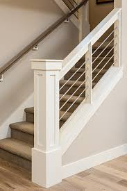 How To Make A Banister For Stairs Newel Post And Railings Wires Instead Of Balusters Is Probably