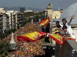 spanien grossprotest gegen abspaltung kataloniens luzerner zeitung