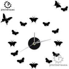 popular wall clock stickers vintage buy cheap wall clock stickers vintage