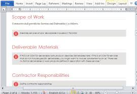 statement of work template for microsoft word