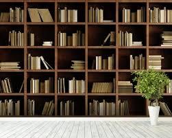 wallpaper that looks like bookshelves natural bookcase wall mural natural bookcase wallpaper