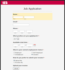 Creating An Online Resume by How To Create An Online Job Application Form Smashing Forms