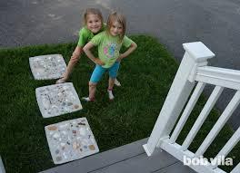 Garden Stone Craft - diy stepping stones diy kids stepping stone crafts diy