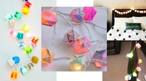 Home Decoration With Paper Diy Home Decoration With Easy To Make String Of Lights Youtube