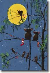 Animated Christmas Decorations Australia by Australian Christmas Cards Would Be Great Printed For Decor