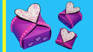 diy paper crafts idea gift box sealed with hearts gift heart