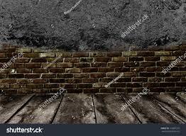 dark room tile floor brick wall stock photo 116897215 shutterstock