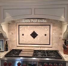kitchen backsplash metal medallions metal flower accent tiles for kitchen backsplashes backsplash from