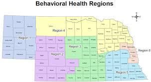 Nebraska State Map Nebraska Dhhs Regional Behavioral Health Authorities