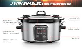 crock pot black friday sales black decker wifi enabled 6 quart slow cooker only at walmart