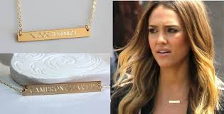 personalized bar necklace gold engravable gold bar necklace nameplate 2014 custom