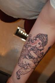 dancing ganesha tattoo on forearm tattoos book 65 000 tattoos