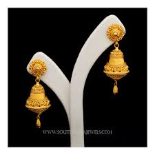 gold earrings jhumka design gold jhumka designs with weight and price south india jewels