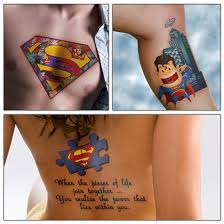 awesome superman tattoo design ideas