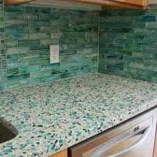 Recycled Glass Backsplashes For Kitchens Recycled Glass Make Decorative Tiles Sea Green Color Green