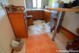human hotel room kitchen abandoned kansai
