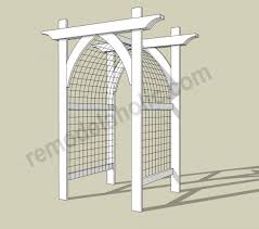wedding arches building plans white garden arbor featuring remodelaholic diy projects