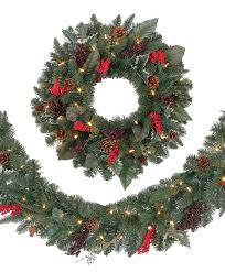 christmas garland with lights austrian spruce garden berry wreaths and garlands tree classics