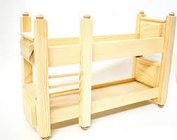 wooden doll bunk bed etsy