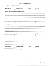 Printable Printable Blank Resume