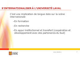 bureau international université laval formation et mobilité à l international université laval richard