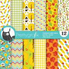 thanksgiving owl papers commercial use scrapbook papers ps764