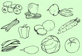 vegetables outline clipart 10