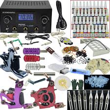 ophir 380pcs pro complete tattoo kit 3 tattoo machines guns 40
