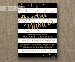 black and white striped wedding invitations black white stripe bridal shower invitation gold glitter dots