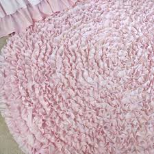 Round Pink Rug For Nursery 5 Ft Round Pale Pink Ruffle Rug Nursery Rugs U2013 Jack And Jill